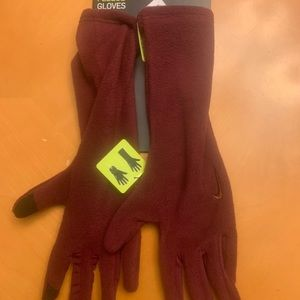 Nike Cold Weather fleece gloves. New. XSmall